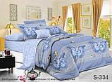 Двоспальний комплект постільної білизни Сатин люкс ТМ TAG., фото 2