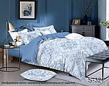 Двоспальний комплект постільної білизни Сатин люкс ТМ TAG., фото 5