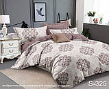 Двоспальний комплект постільної білизни Сатин люкс ТМ TAG., фото 7