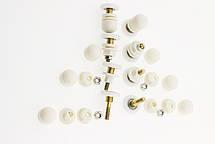 Ролики для душевых кабин, комплект ( В-06 А ) одинарные, белые, эксцентрик., фото 2