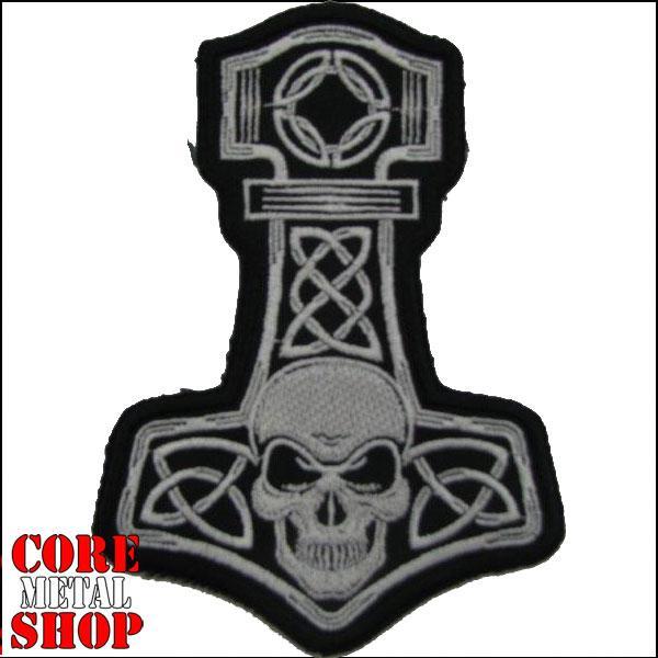 Нашивка Молот Тора с черепом (Thors Hammer with skull)
