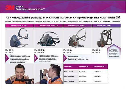 Респиратор 3М 6200 + Фильтры 6051  (Оригинал), фото 2