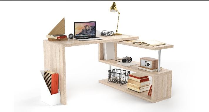 Комп'ютерний стіл Рубікон Ясен Шимо темний