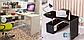 Комп'ютерний стіл Рубікон Ясен Шимо темний, фото 3