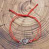 Серебряный оберег Рука Фатимы длина регулируемая ширина 13 мм вес 1.05 г, фото 2