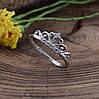 Серебряное кольцо Диадема вставка белые фианиты вес 1.5 г размер 18, фото 3