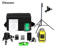Лазерный уровень/лазерный нивелир 3D Firecore F93T-XG + Штатив 3м с креплением