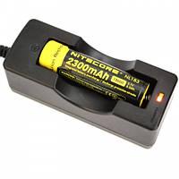Зарядное устройство на 1 аккумулятор для Li-Ion 3.7 V 18650 с кабелем, фото 1