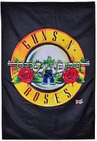 Флаг Guns n'Roses (желтое лого)