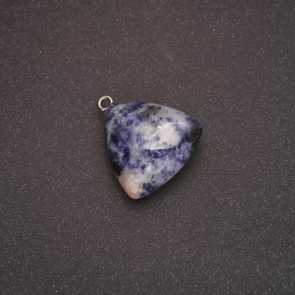 Кулон натуральный камень Содалит 27х24(+-)мм