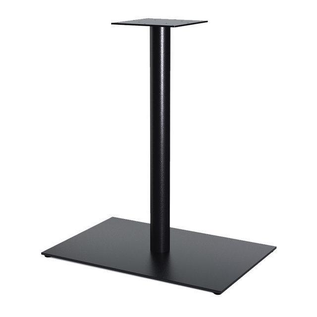"""Металлическая опора """"UNO"""" для стола из трубы с широкой пластиной 6мм"""