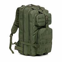 Тактический штурмовой военный рюкзак 35л портфель темно-зеленый