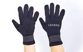 Перчатки для дайвинга LEGEND PL-6102 (3мм неопрен, размер M-XL-8-11, черный)