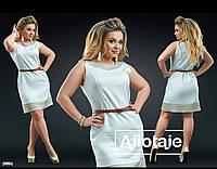 Платье женское лён белое полубатал, фото 1