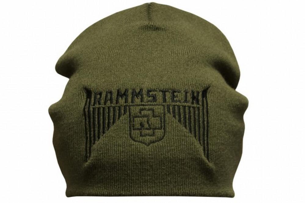 Шапка с вышивкой Rammstein олива