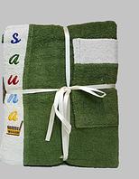 Мужской набор для сауны махровый ТМ Gursan (олива), Турция