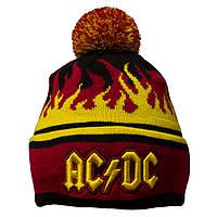 Шапка AC/DC (flame) c жаккардовым узором