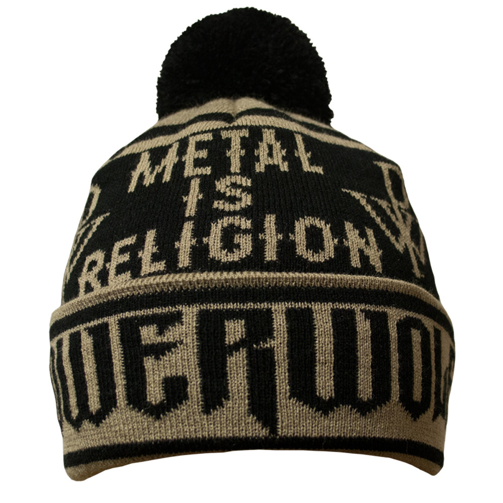 """Шапка Powerwolf """"Metal Is Religion"""" c жаккардовым узором"""