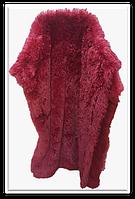 Покрывало/плед (искусственный мех 2,5кг) 220*240 Длинный ворс ( бордовый)
