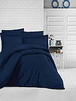 Турецкое постельное белье из сатина Евро размер 200х220 (ТM ARAN CLASY) Lacivert, Турция