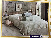 Бежевое Плед-покрывало Хлопковое на кровать 200х220 TM Zeron, Турция