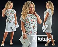 Платье женское полубатальное льняное, фото 1