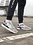 Кросівки Adidas Nite Jogger Black/White, фото 3