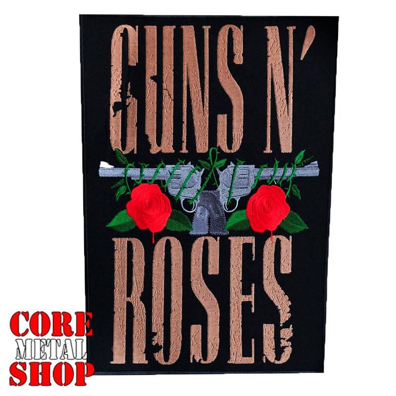 Нашивка наспинная Guns N` Roses (револьверы и розы)