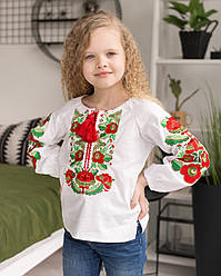 Блуза вышиванка Оливка для девочки от 104 до 170 роста