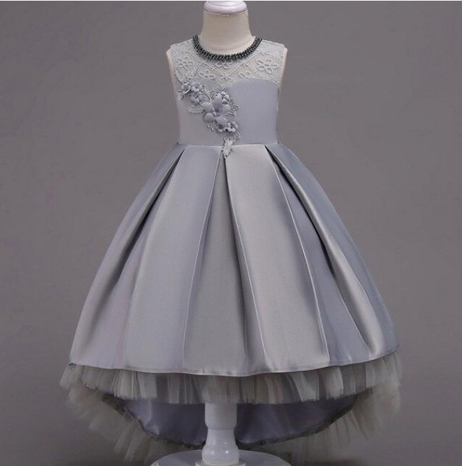 Платье серое бальное выпускное нарядное для девочки в садик или школу