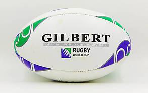 Мяч для регби кожаный GILBERT RBL-1 (кожа, р-р 12in, №5)