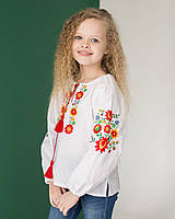 Вишиванка детская Цветочная от 104 до 134 по росту