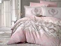 Двуспальное элитное постельное белье из сатина Турция  200х220 (ТМ ARAN CLASY) Adra v1