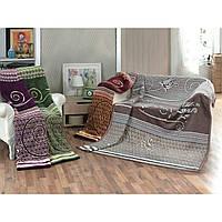 Плед на двуспальную кровать/диван Хлопковое 200х220 TM Zeron Турция PS