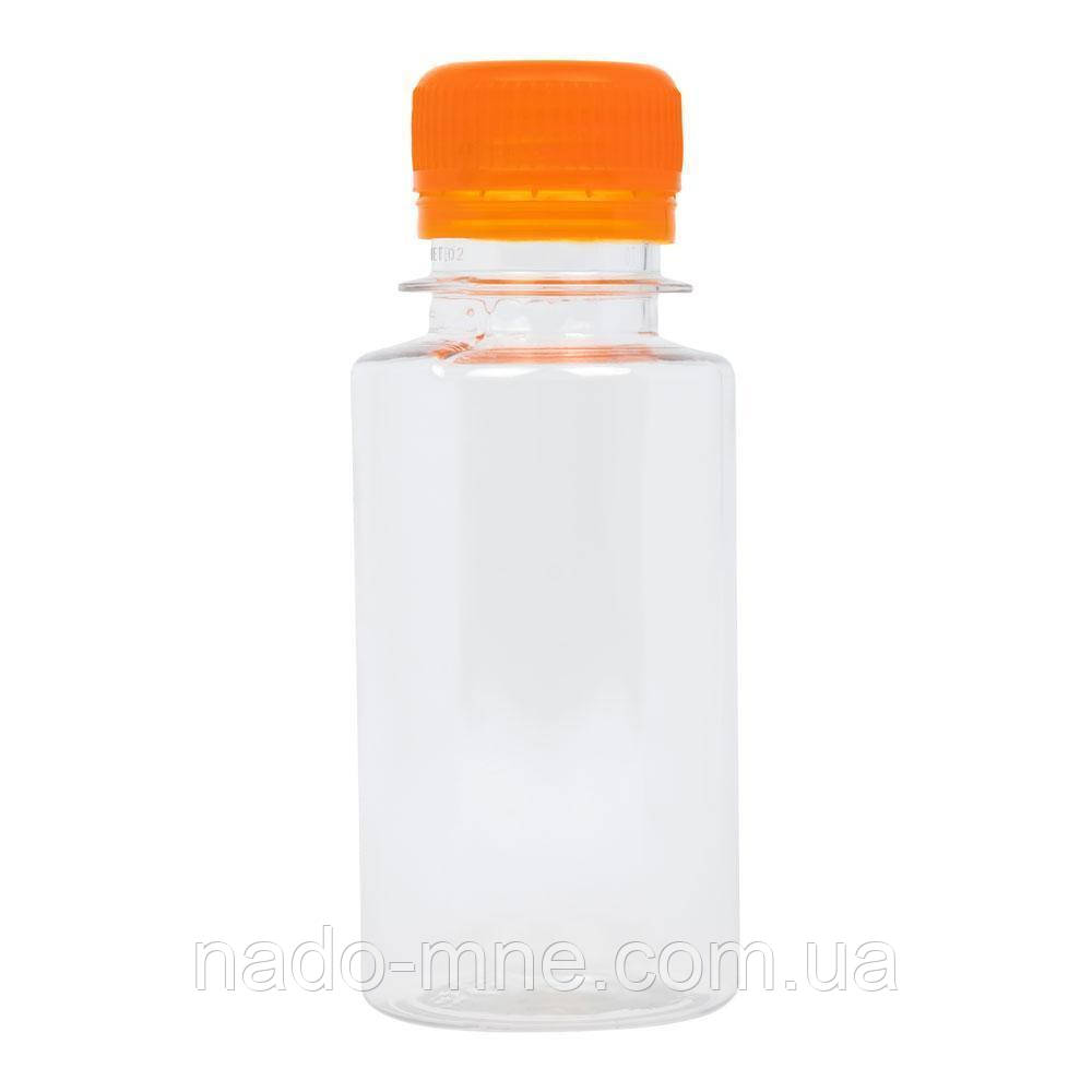 Бутылка пластиковая 100 мл - 0,1 л. Оптовые цены в розницу! с узким горлом Цена за 1 шт. с крышкой