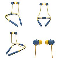 Беспроводные Bluetooth наушники Bluedio TN2 с шейным ободом и активным шумодавом Синий