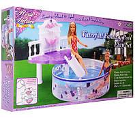 Мебель Gloria с бассейном для кукол 29 см, 2678