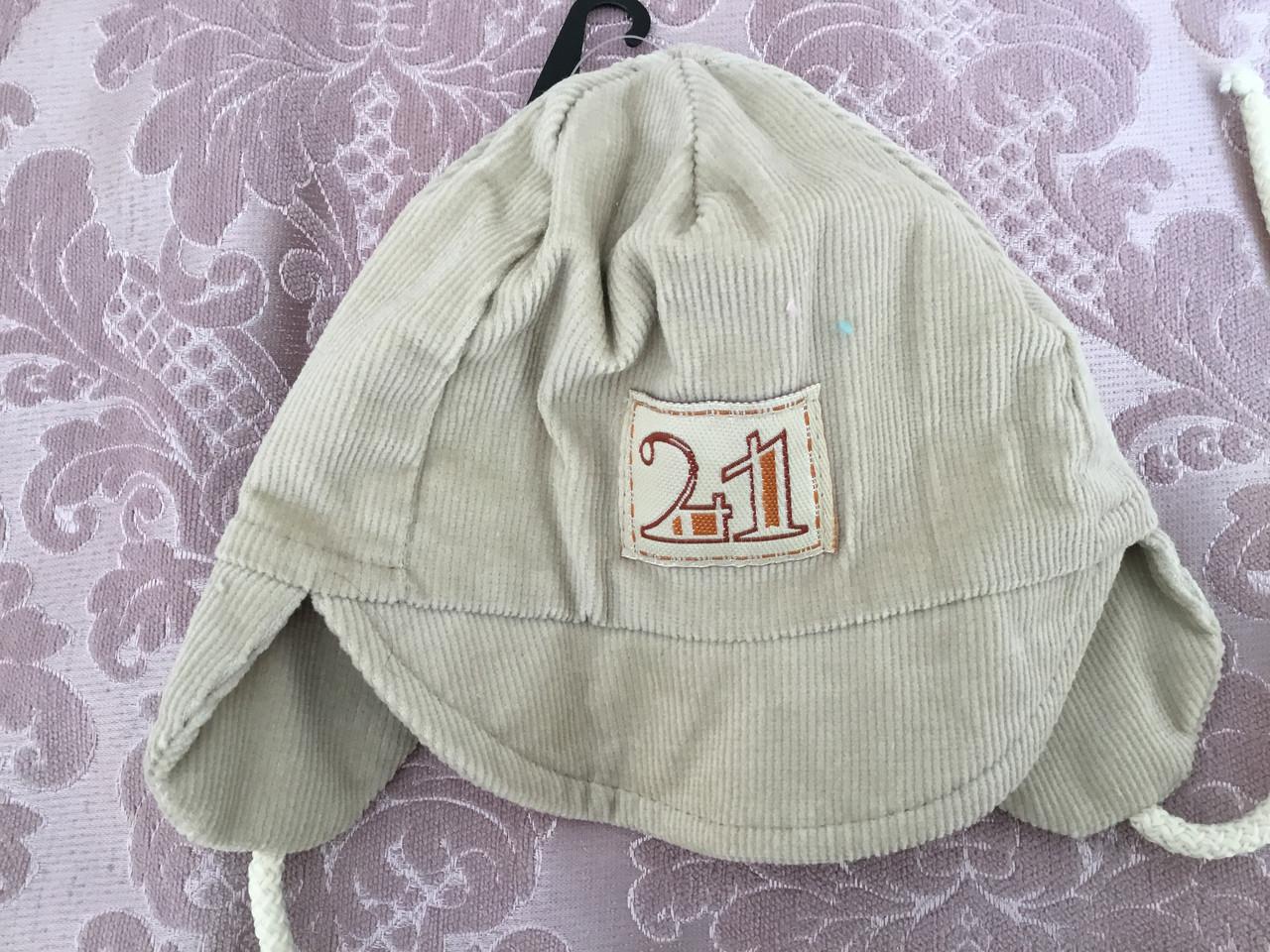 Вельветовая детская шапочка