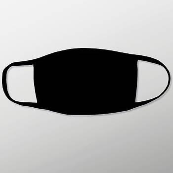 Защитная маска на лицо для печати с карманом для фильтра цвет черный