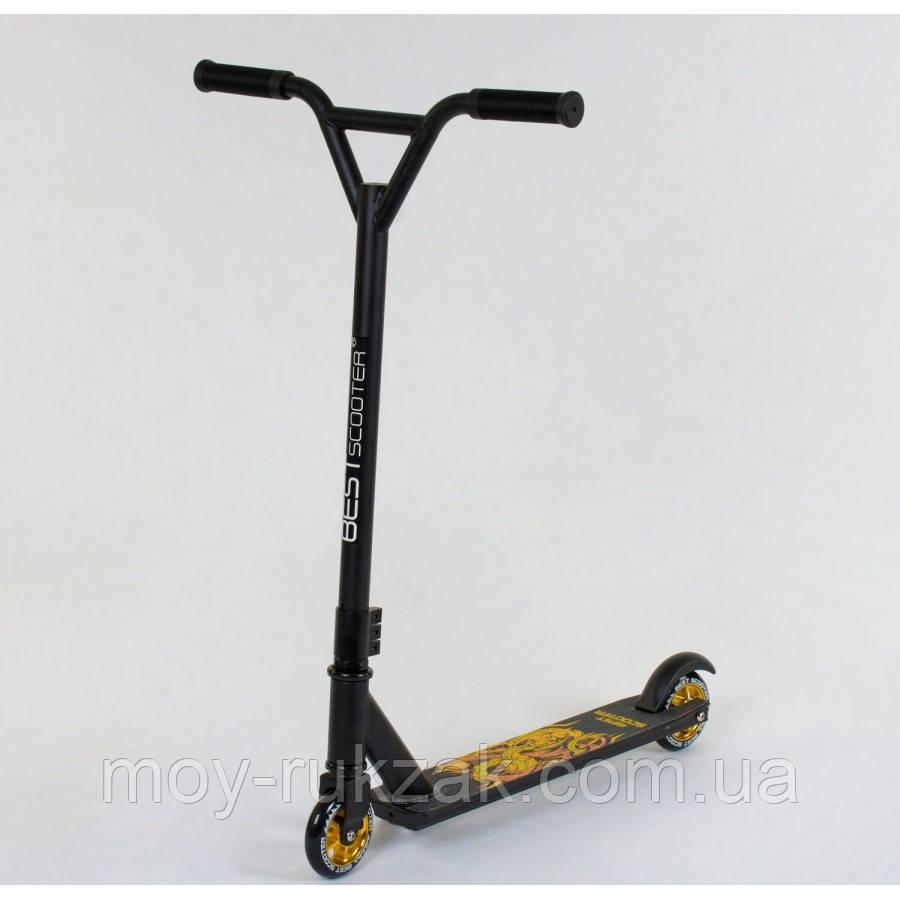 Самокат трюковый Best Scooter 41770, черный.