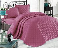 Двухспальное стеганое покрывало на кровать 240х260 с наволочками 50х70 (TM Aran Clasy) Rabel V7, Турция