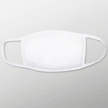 Текстильная маска на лицо для печати с карманом для фильтра цвет белый