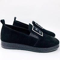 Туфли замшевые на низком ходу, фото 1