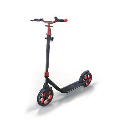Самокат GLOBBER серии ONE NL 230 ULTIMATE, красно-серый, до 100кг, от 1.55м, 2 колеса, фото 2