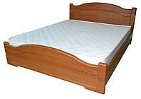 Кровать Доминика с пружинными подъемниками 140x200 орех светлый