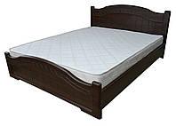 Кровать Доминика с пружинными подъемниками 140x200 орех темный