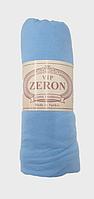 Простынь на резинке Голубая хлопковая 180х200 на кровать/диван,  Турция