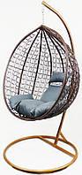 Підвісне крісло-гойдалка кокон B-183B (коричнево-сіре) (46000005)