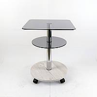 Стол журнальный квадратный Commus Bravo Light 400 Kv6 gray-sosnak-chr50