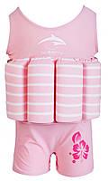 Купальник–поплавок Konfidence Floatsuit 2-3 роки Купальник Floatsuit 2-3 роки Pink Stripe, фото 1